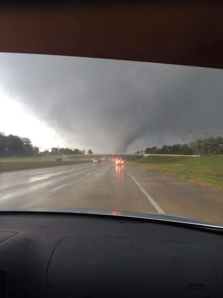 #tornado near the Woodlands captured by Megan G. while on I-45. #KHOU11 https://t.co/zMaM8KqYmA