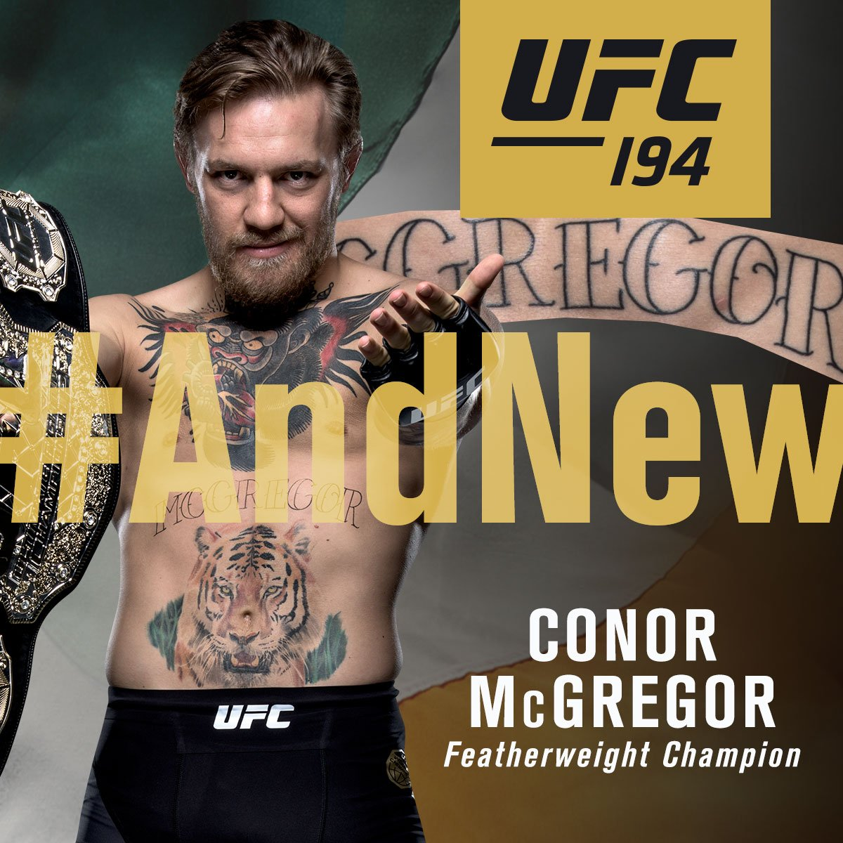 #AndNew UFC featherweight champion of the world @TheNotoriousMMA #UFC194 https://t.co/lKdVtMgsw4