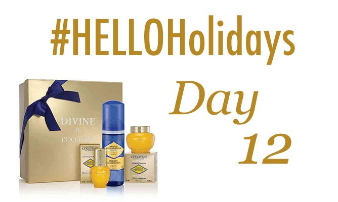 #HelloHolidays day 12! RT for a chance to win this L'Occitane Divine Star gift set! https://t.co/7PyWRaT1Sc https://t.co/tyGUB9Qga7