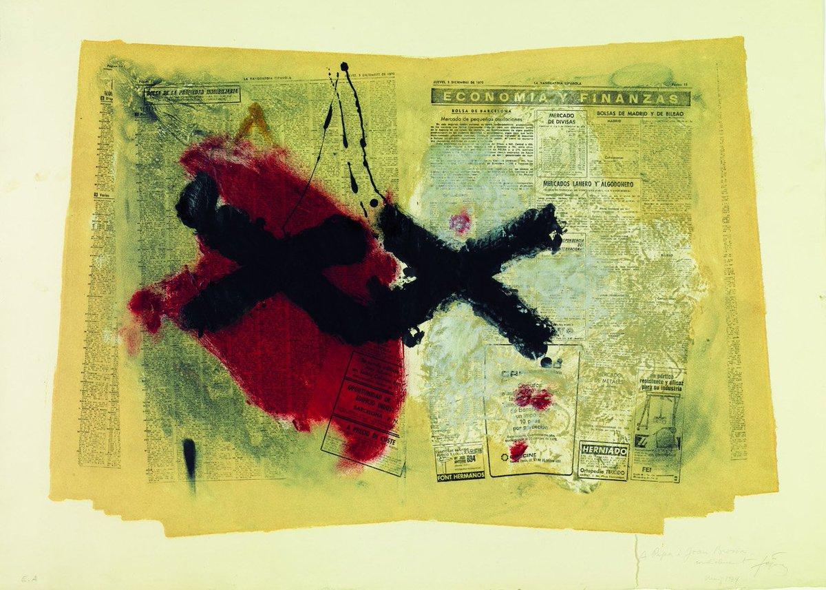 #Taldiacomavui va néixer el  pintor, escultor i teòric de l'art Antoni #Tàpies [1/2] https://t.co/Ro5exNhLtl
