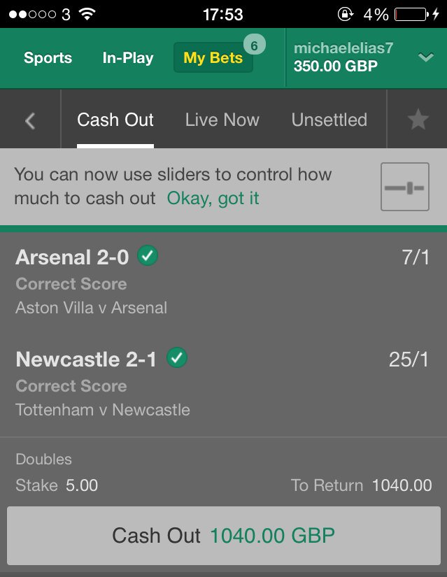 I've had some blinders in my time but Tottenham losing in the 92nd minute to win me £1,000 tops the lot! https://t.co/csOlsGxgjq