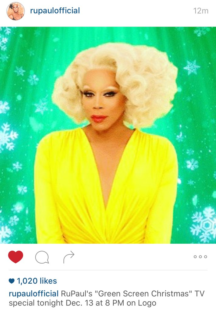 @RuPaul makes me want to have a slice of lemon meringue for breakfast.  Green Screen #christmas https://t.co/VyQszC8eff