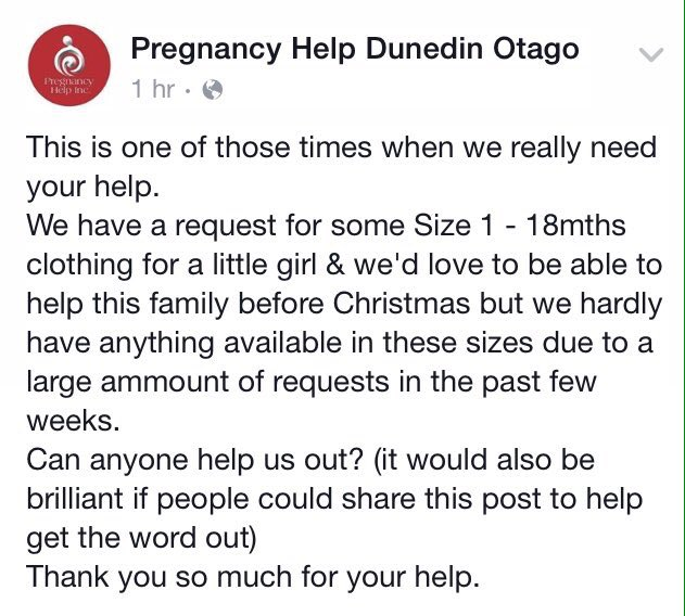 Does anyone in Dunedin have size 1-18 month girls clothes? Pregnancy Help Otago is desperate https://t.co/JT9GfKzgwV https://t.co/BVyp4f68Ge