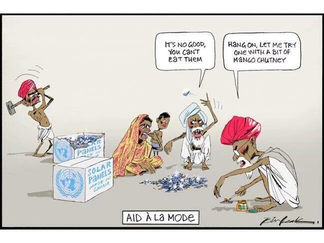 Australian Newspaper Cartoon Depicting Indians Eating