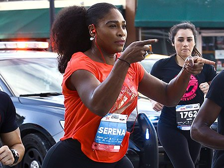 Serena Williams doesn't run the whole way on her charity race -- vows to finish it next year