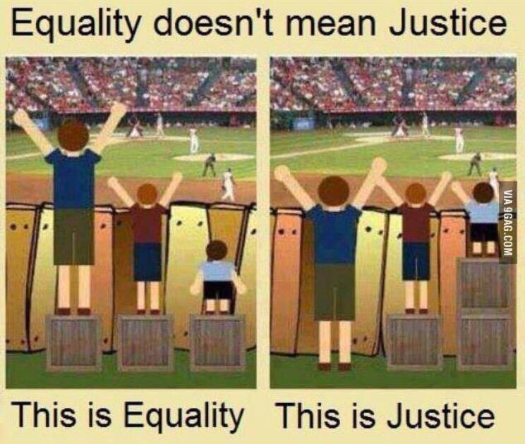 Equality vs justice. https://t.co/GrNN8iUryF