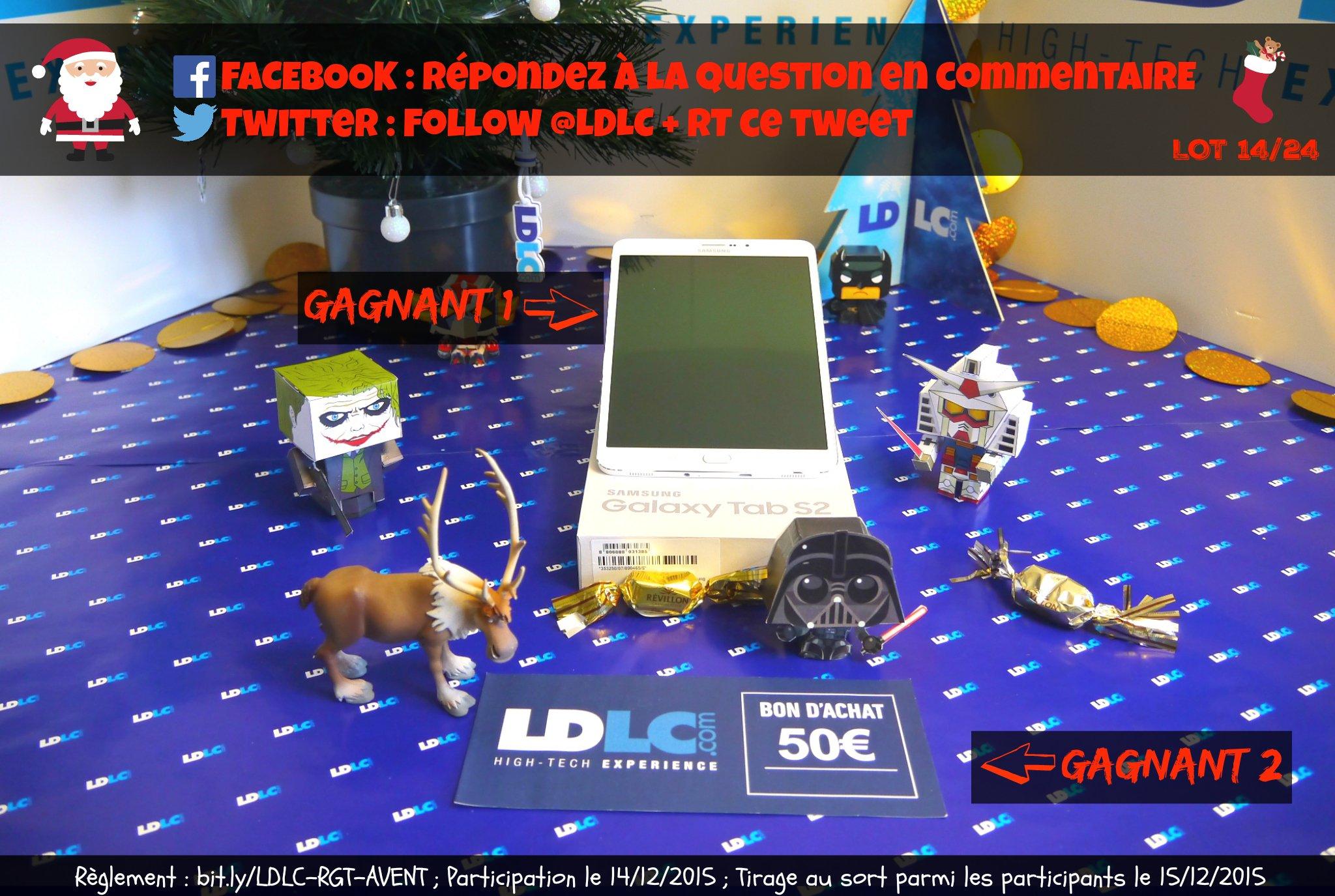 #TraineauLDLC �� Calendrier de l'Avent [14/24] À gagner : 1 tablette Galaxy Tab S2 8' �� https://t.co/aqcWn8ShuO https://t.co/DCQmfnf543