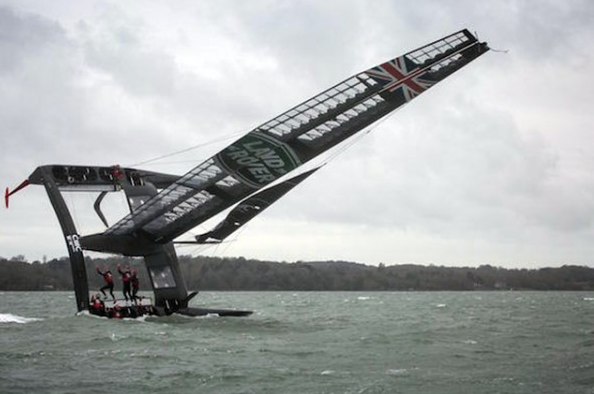 Ben Ainslie's new T2 boat capsizes during tests https://t.co/keWykXqBsB https://t.co/4RqvG2Tt2Q