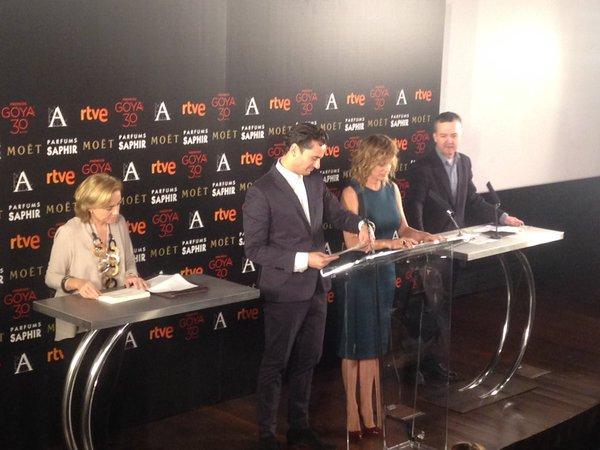 'La Novia' arrasa en las nominaciones a los #Goya2016 con 12 candidaturas https://t.co/noQ4oPktXL @PremiosGoyaEs https://t.co/1UhHmqJE3g