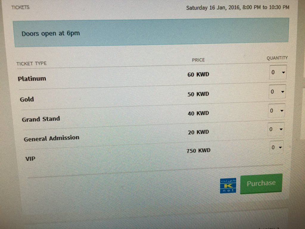 Russel Peters is performing in Kuwait next month, which got me really happy....then I saw the ticket prices.