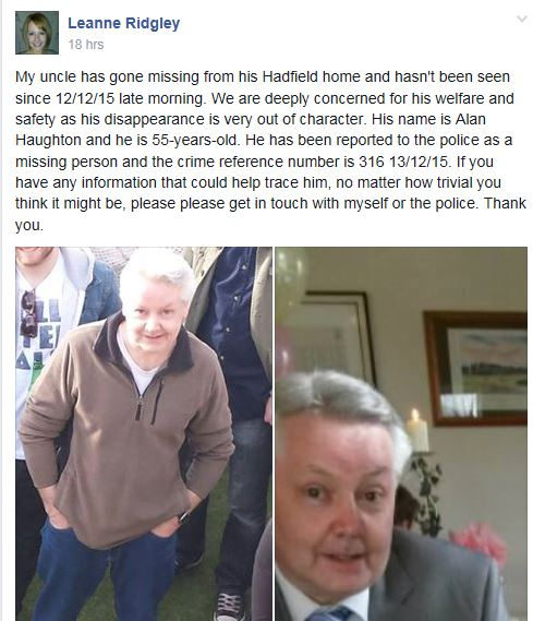 #Hadfield man has gone missing. Can you help? Please RT #Glossop https://t.co/7ftq00We0K