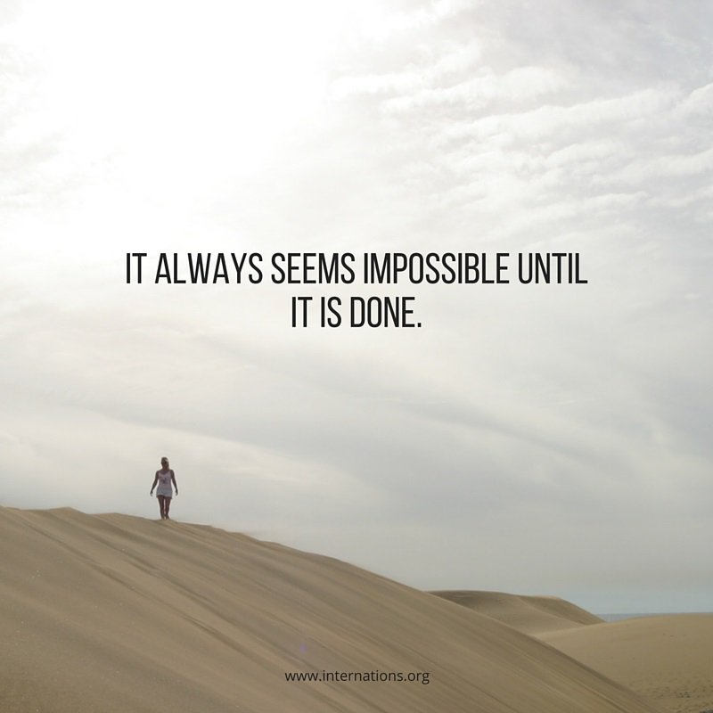 It always seems impossible until it is done. #MondayMotivation https://t.co/Aao7gl388x