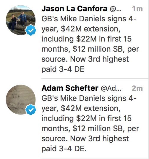 @AdamSchefter @JasonLaCanfora Are you two sharing tweets now?! https://t.co/C7XcqHFbUN