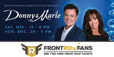 I have 2 front row tickets to giveaway for @donnyosmond & @marieosmond this Sunday! https://t.co/u9Qo7Ed1eB. https://t.co/DyjMwpWRc2