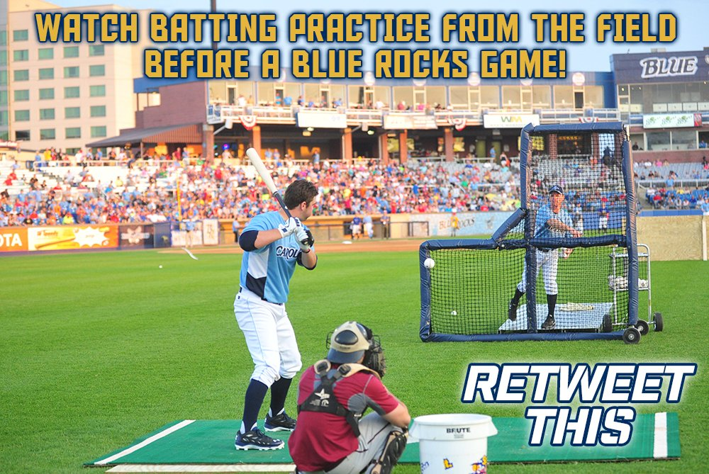 Win 4 tix to watch BP on field before a 2016 Blue Rocks game! It's the Eighth Day of #Tixmas! RT for chance to win! https://t.co/ZkqNLsQSuf
