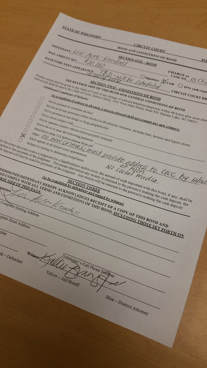 1 More Piece Of Paperwork Before Leaving Polk Co. Levi Jail