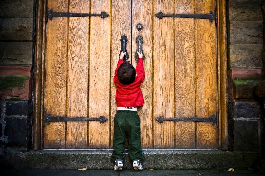 Перед дверью конкурс с ключом