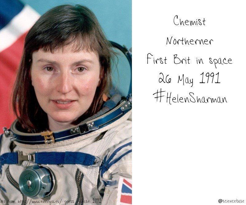 Hah! Helen Sharman #HelenSharman is trending already, excellent. #RealTimeChem #FirstBritInSpace https://t.co/AQwi0rwSJg