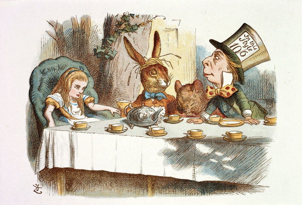 """""""Yes, that's it! Said the Hatter with a sigh, it's always tea time."""" Happy #InternationalTeaDay! https://t.co/ywm9D5sZnk"""