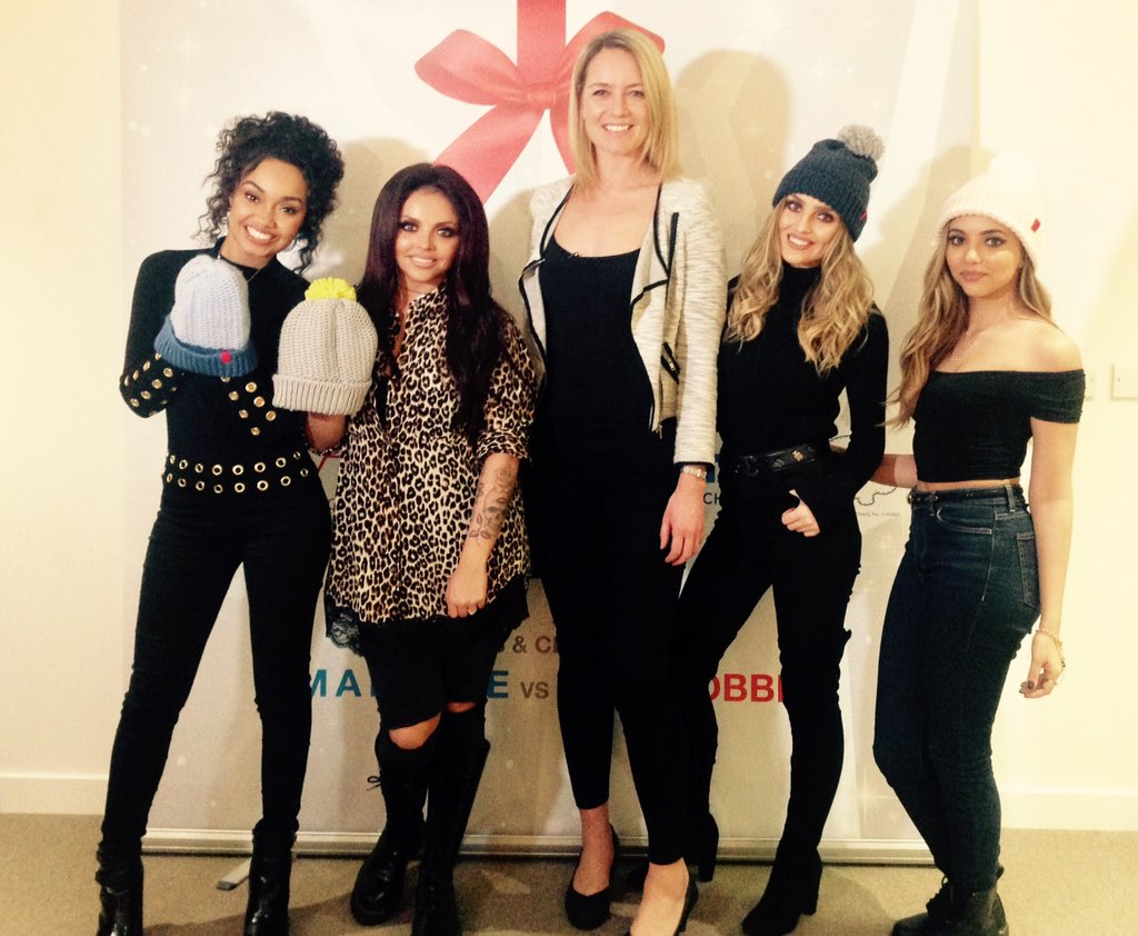 .@LittleMix have got a new member! @BeccyMeehan met them as they visited kids at @AlderHeyCharity this afternoon https://t.co/TCB0SEMk4w