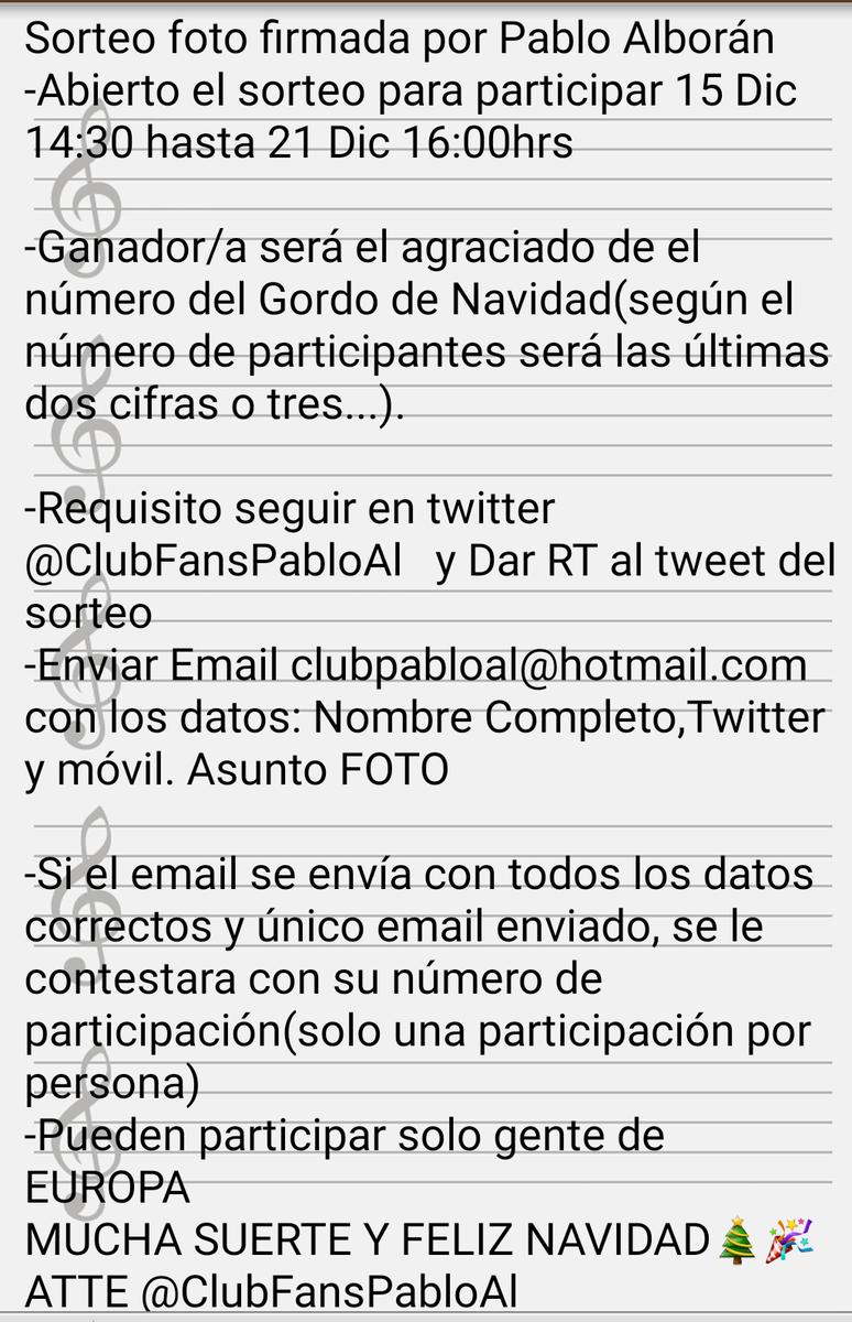 #SORTEO Consigue esta foto firmada por Pablo Alborán. Da RT a este tweet,sigue esta cuenta y sigue los pasos