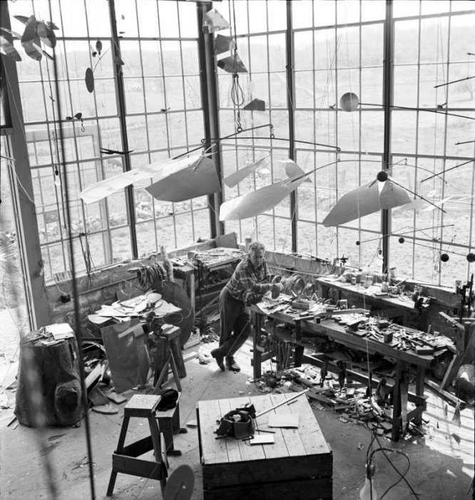 Alexander Calder in his studio https://t.co/PMolsQUCDu https://t.co/XnDvMralco