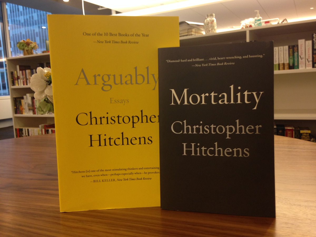 Remembering the great Christopher Hitchens today. RT for a chance to win ARGUABLY & MORTALITY. #Hitchens https://t.co/M56k5SaYjW