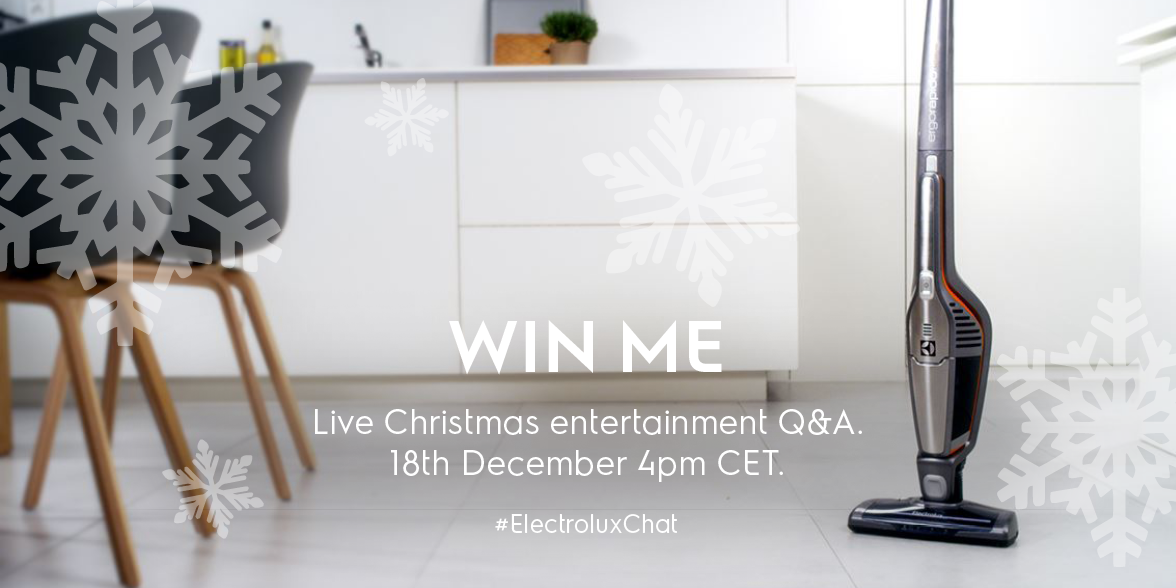 Ask questions around #Christmas Entertaining on our Live Q&A #ElectroluxChat & get the chance to #WIN an Ergorapido https://t.co/1qGL0UQuI6