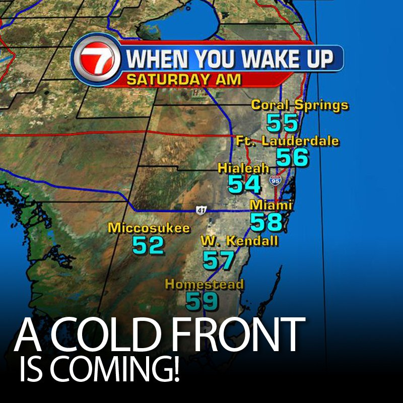 A taste of winter is coming to South Florida this weekend! https://t.co/QEB4SBUAsB