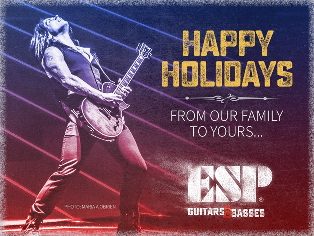 From the ESP Family to you and yours... may this holiday season be full of friends, good times, and great music! https://t.co/2WkC23tz7u