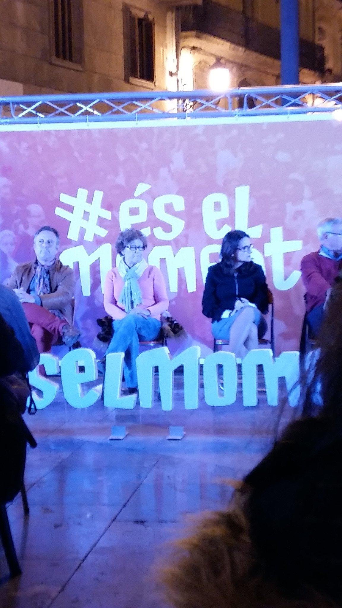 Ahora mismo en Valencia mítin ciudadano #éselmoment @EsElMoment @monicaoltra @joanribo https://t.co/coDAOMuWf5