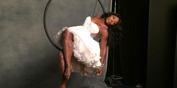 Serena Williams shared a behind-the-scenes photo from her Sports Illustrated shoot
