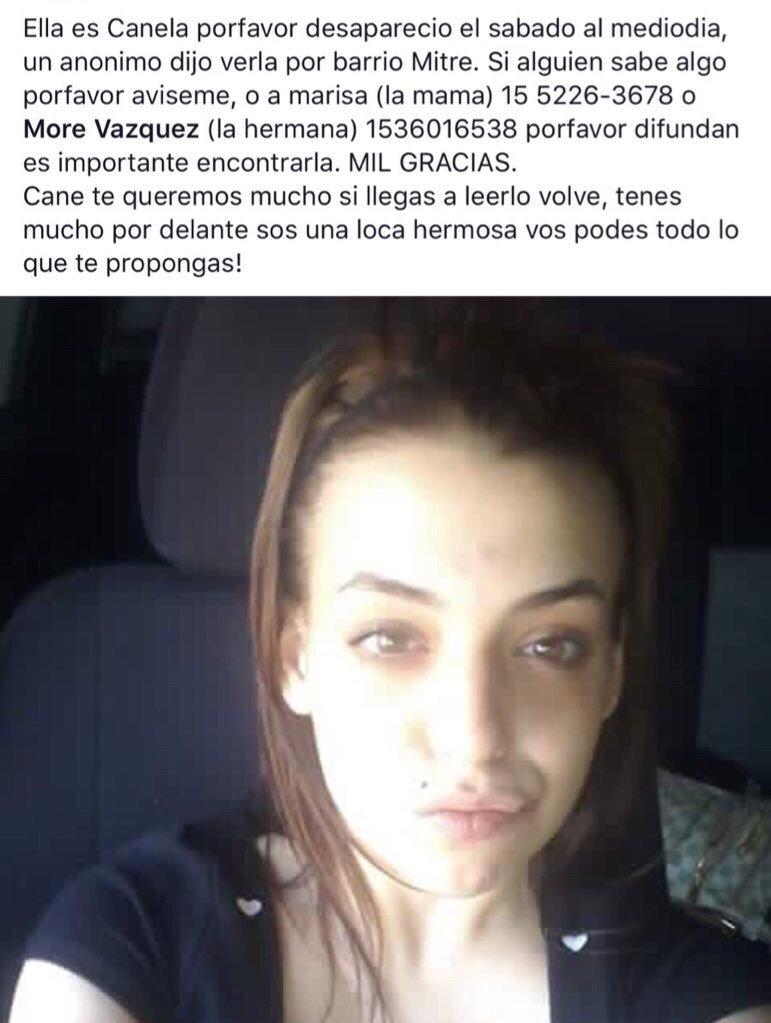 Por favor RT...la estamos buscando! Ayudanos https://t.co/IfRaafZo4w
