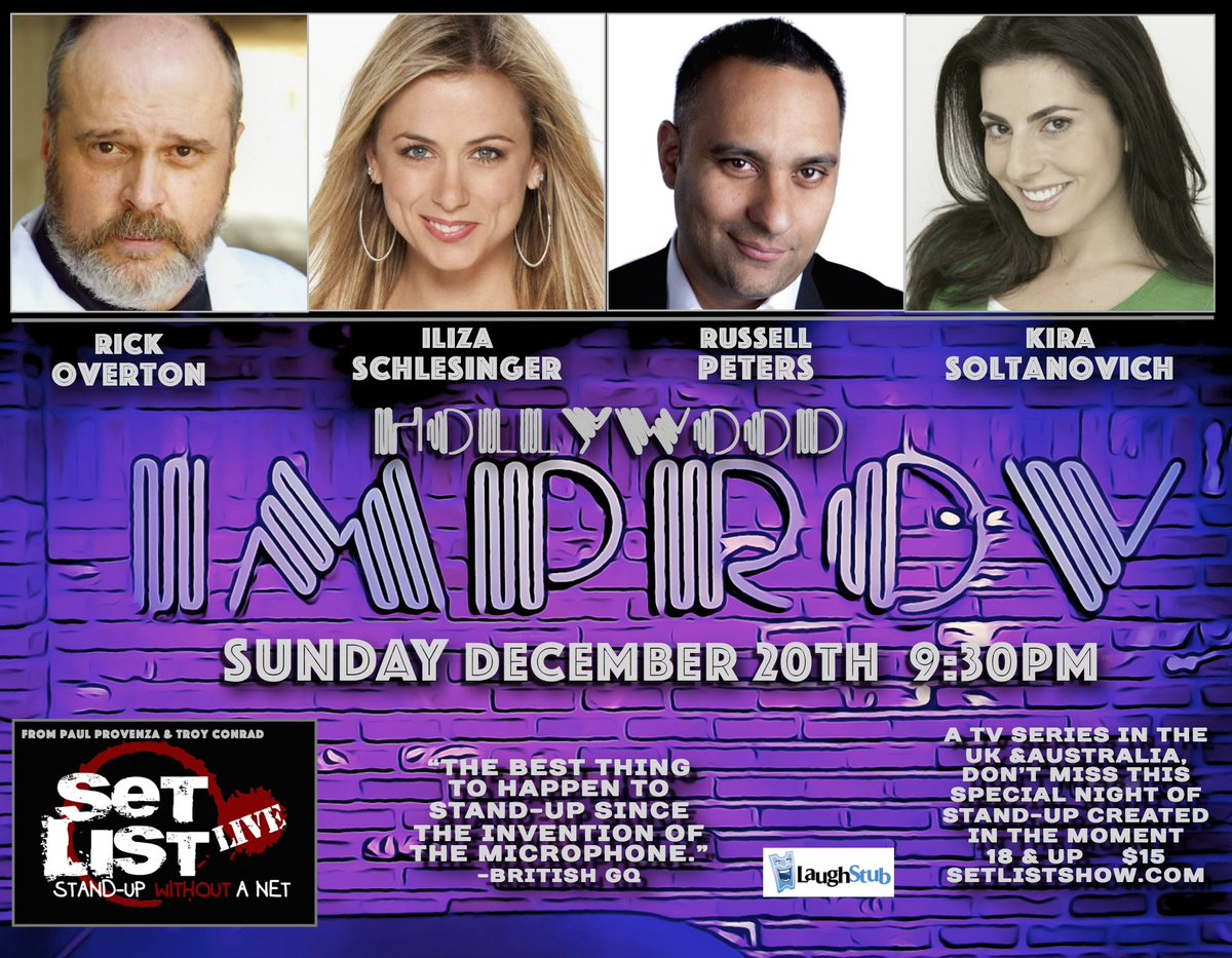 Big weekend for Set List at the @HollywoodImprov - here's Sunday's 9:30pm show!  https://t.co/sFqPtGJpNd https://t.co/GMXyYKRyqA