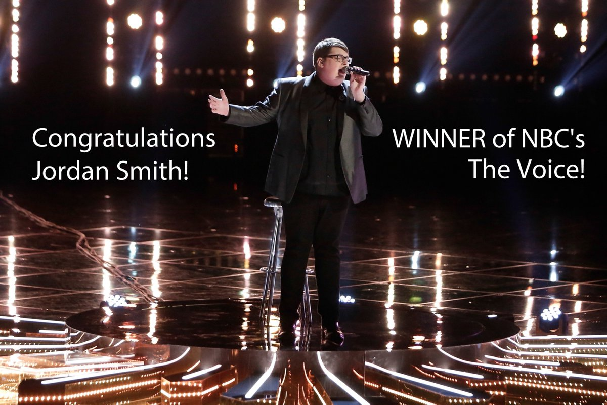 Congratulations @JordanSmithLive! WINNER of #TheVoice! We are very proud of you! https://t.co/Rnu2s470uz