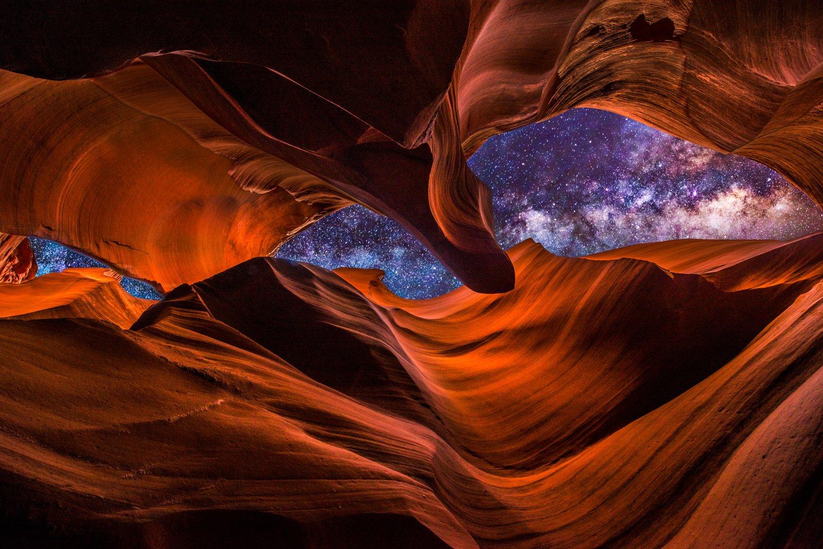 The Milky Way as seen from Antelope Canyon, Arizona https://t.co/1Bwj6ybViI