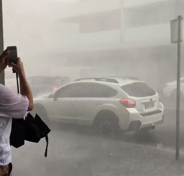 Bondi: Video shows the wind speed https://t.co/wZwkp4OO1W #sydneystorm #bondi https://t.co/r5CriurTIk