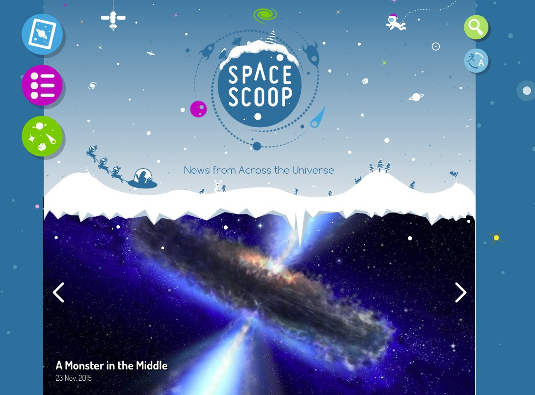 Our new beautiful #spacescoop website with news from across the Universe is available in 22 different languages! https://t.co/TxzOsfAeXF
