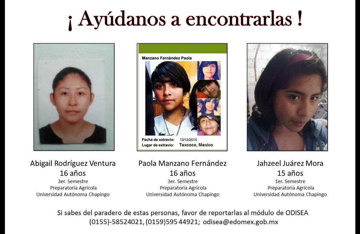 Amigos, estas niñas están desaparecidas, son hijas, hermanas, familiares de amigos cercanos #Chapingo #Texcoco https://t.co/ysrDwmLH29