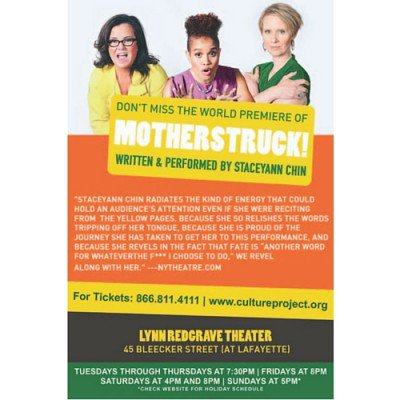 You rocked it @staceyannchin @MotherStruck TYSVM #cynthiaNixon @Rosie https://t.co/rlxA2qOcJz