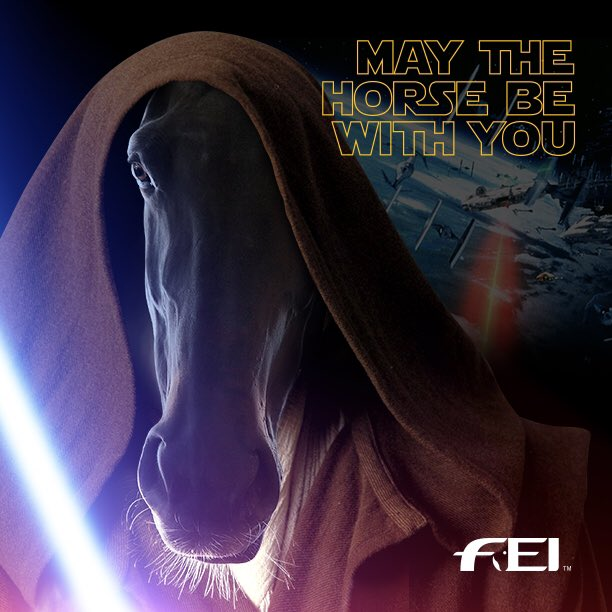 'Olympic Athlete By Day, Jedi By Night' #MayTheHorseBeWithYou @starwars https://t.co/7Y8o373RWP