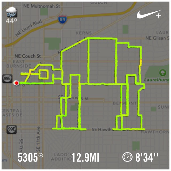 Love to see #PDX @genelu continue his Nike+ #runwars campaign with custom Star Wars running routes. https://t.co/OXWqKDHlUm