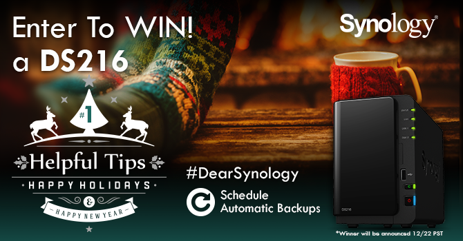 Tip #1 – Automate your backups & spend more time doing the things you love! RT for a chance to WIN! #DearSynology https://t.co/ESg4fQSWju