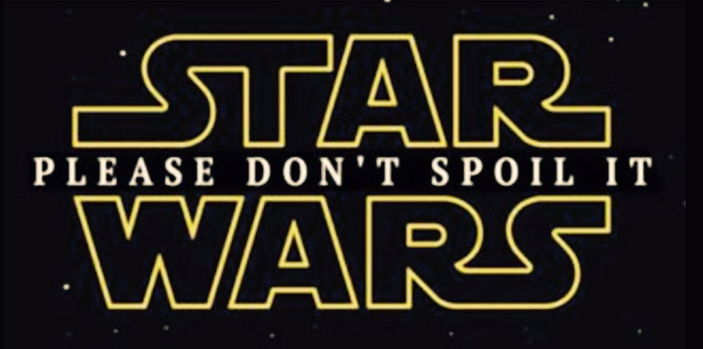 Loose lips sink Starships! Don't pull a Homer, keep the secrets! #shh #DontBeAHomer #StarWars #SWVII #TFA https://t.co/aVqX8VxrKY