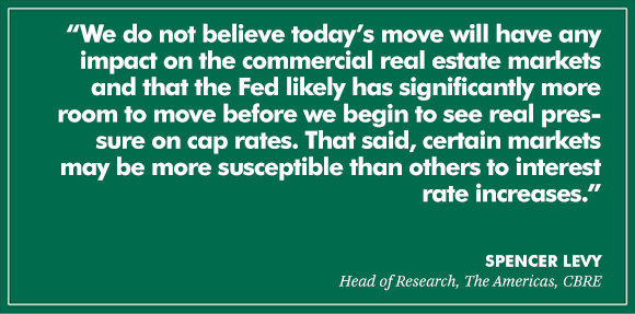 The Fed's increase in interest rates and its impact on #CRE https://t.co/Ld2kzSUb3e @CBREAmericas https://t.co/AkyRca5yVs