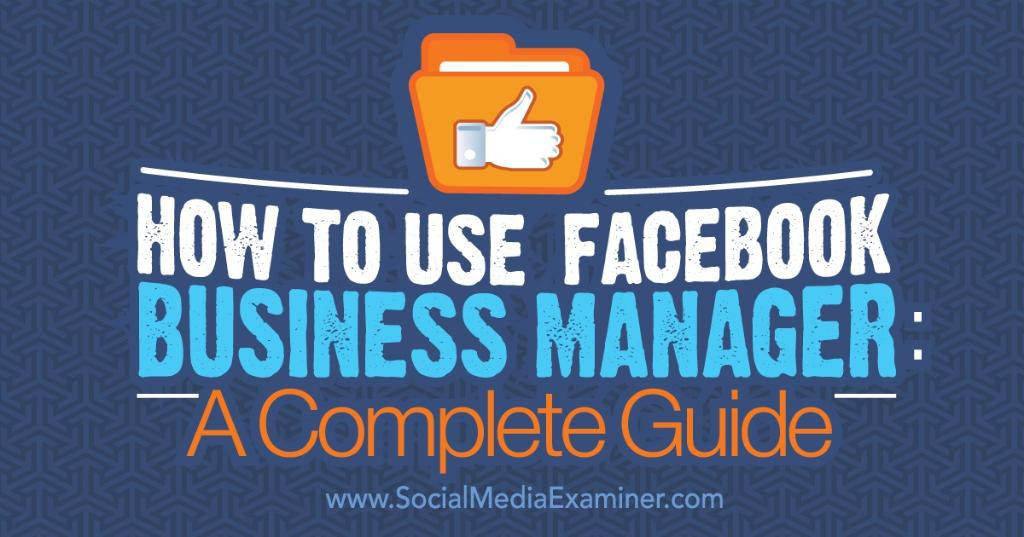 Are you familiar with the Facebook Business Manager? Discover how to use Business Manager to https://t.co/Je3mGSEzVe https://t.co/1PZXmraS9q