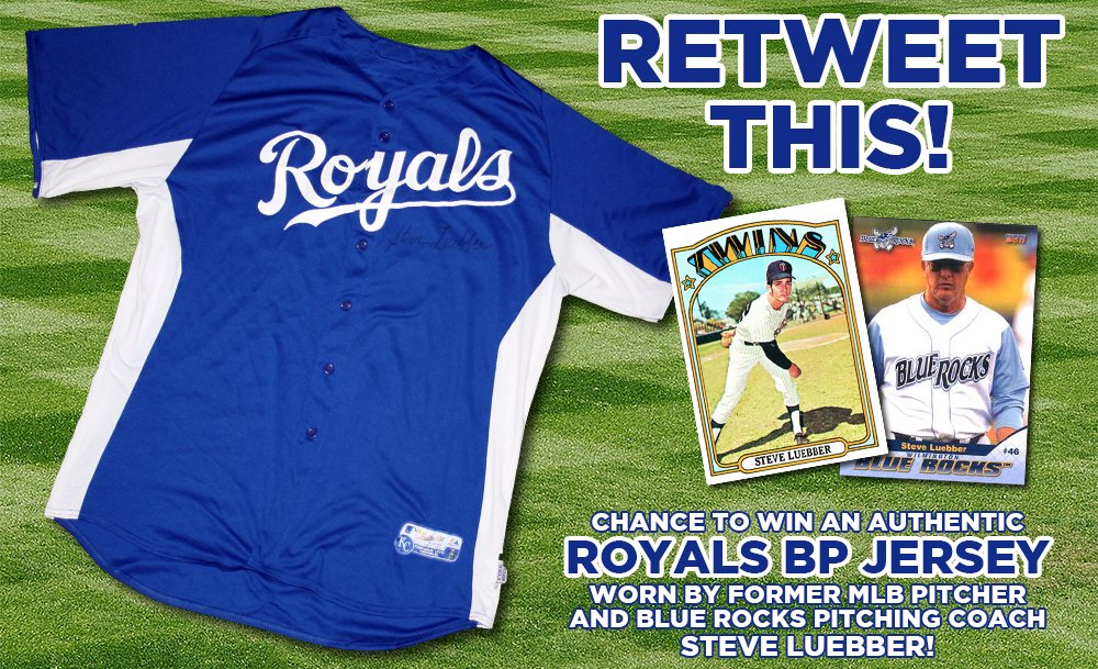 10th Day of #Tixmas! RT for chance to win Royals BP jersey worn by former MLB pitcher & Rocks coach Steve Luebber! https://t.co/ZSGxa7LMJZ