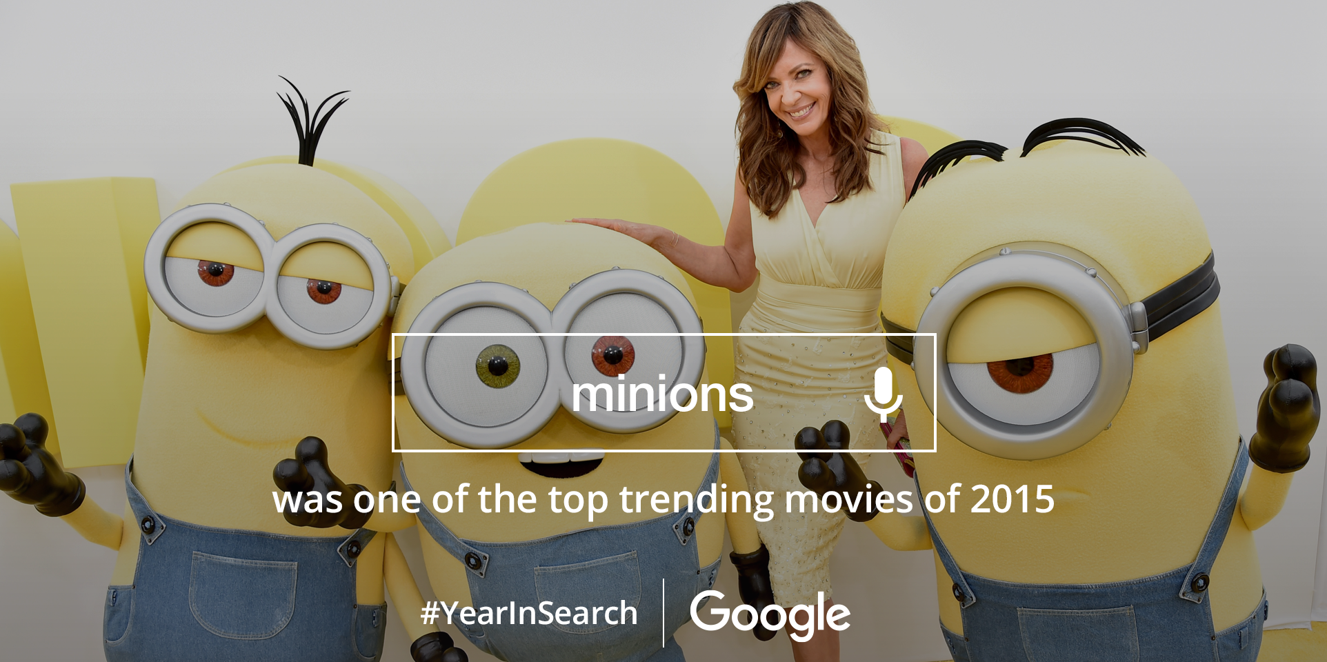 They're cute and lovable but so full of mischief. Gotta love Minions! @Google #YearInSearch https://t.co/mKUM1sXD3G