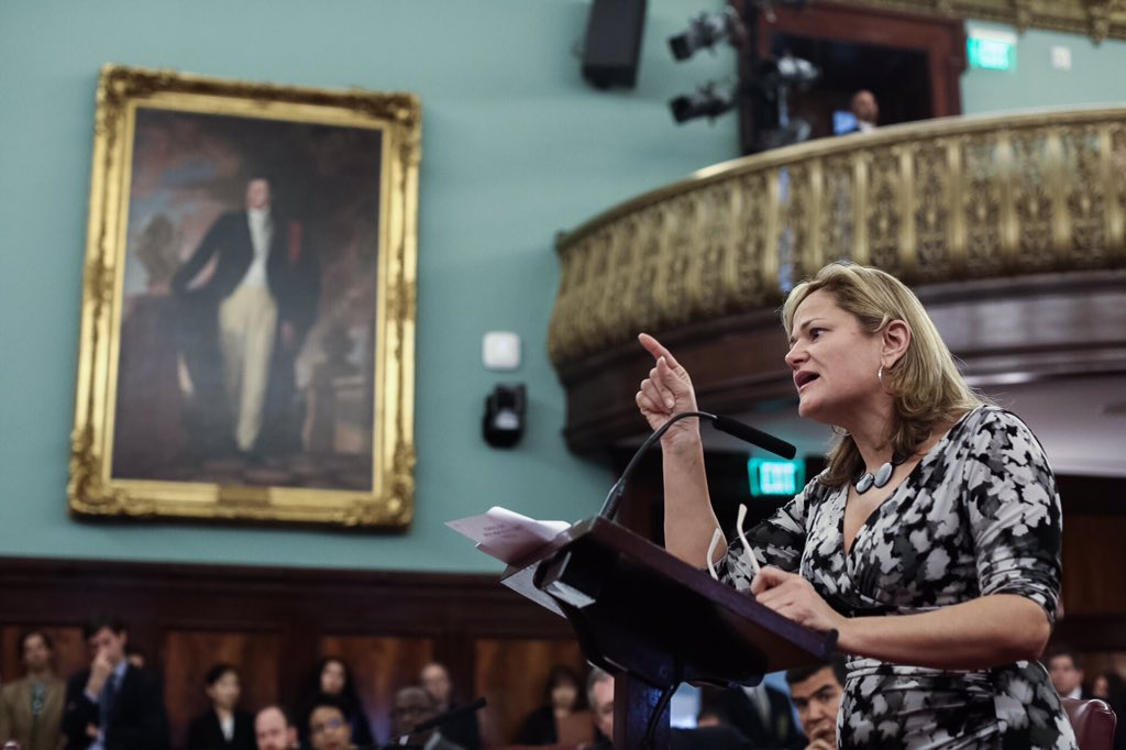 Today at City Hall. Speaker @MMViverito voices her disgust that U.S. won't help Puerto Rico out of its debt crisis. https://t.co/LFE897cyTV
