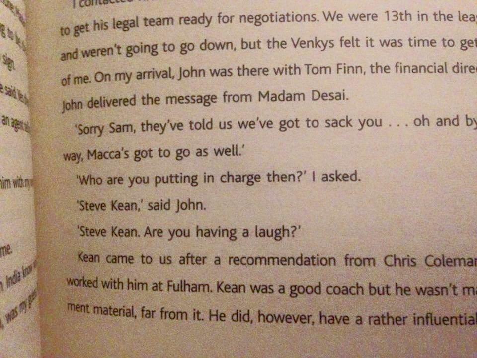 Sam Allardyce on Steve Kean. Go on Samuel, get stuck into that sneaky little prick. https://t.co/p7oTC0zEhC